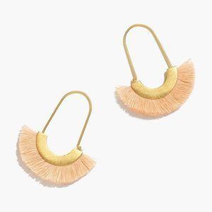 NWT MADEWELL Arc pink Fringe Earrings
